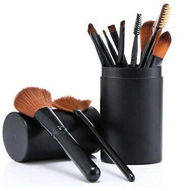 化妝刷套裝 美妝套裝粉刷工具初學者化妝全套組合便攜12支眼影刷桶 nm19121【樂活】 全館八八折