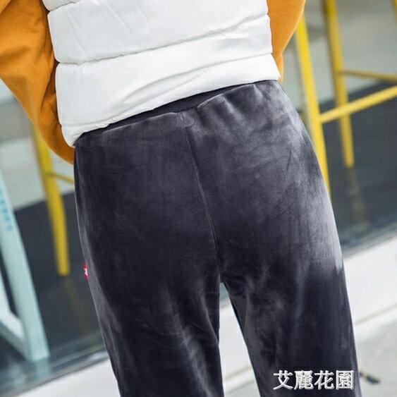 加長版金絲絨運動褲女冬季加厚寬鬆雙面絨哈倫小腳休閒衛褲子 全館八八折