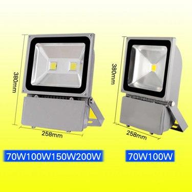 LED投光燈100W戶外室外燈泛光燈防水廣告燈20W30W50W400W投射燈瓦 全館八八折