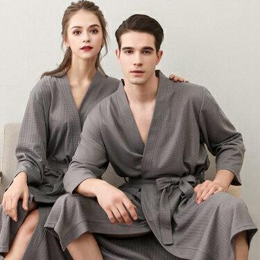 浴袍 夏天薄款浴袍浴衣吸水速干加肥加大情侶睡衣中長款男女士睡袍和服 全館八八折