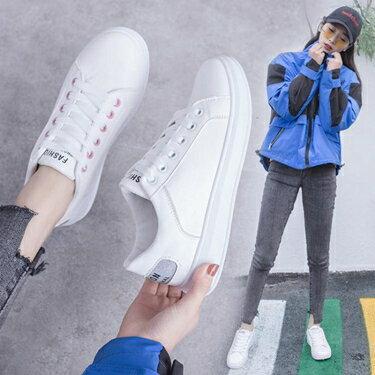 小白鞋 小鞋女春季新款百搭潮鞋基礎學生休閒平底網紅帆布鞋春款 全館八八折