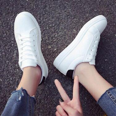 小白鞋 新款韓版小白女鞋春款休閒百搭潮鞋網紅學生平底運動單鞋 全館八八折
