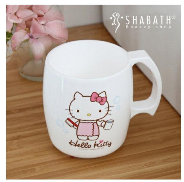 【真愛日本】18042800009塑膠杯-KT浴裙白kitty凱蒂貓塑膠杯漱口杯杯子盥洗浴室用品
