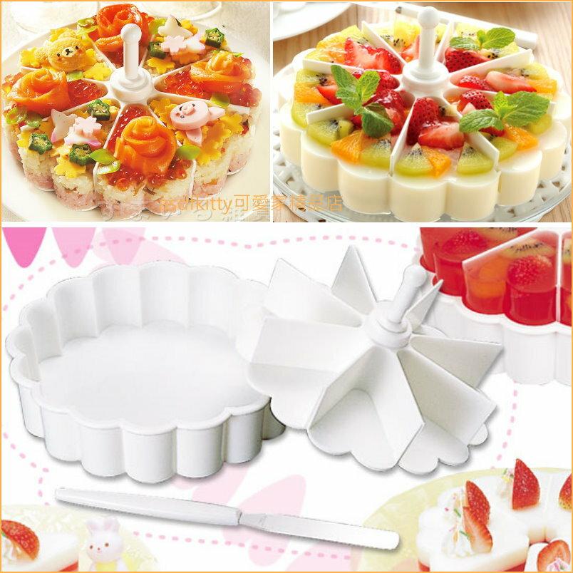 asdfkitty可愛家☆日本Arnest白色八切心型果凍盒/寒天製造器/蛋糕模/飯糰模/壽司模-可微波-日本製