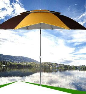 3699shop:萬向雙層釣魚傘超輕防雨防紫外線釣傘遮陽傘漁具傘(隨機出貨)