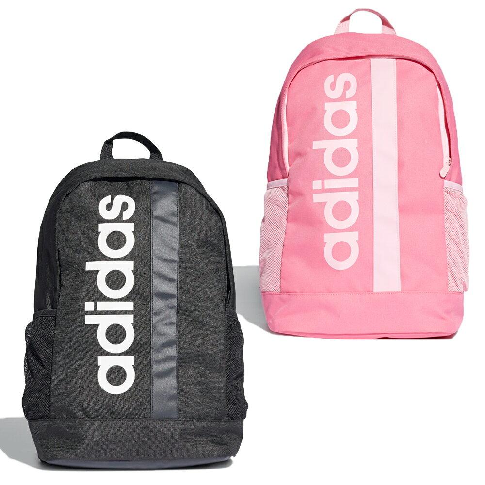 【滿額最高折318】【現貨】Adidas LINEAR CORE BACKPACK 背包 後背包 休閒 黑/粉【運動世界】DT4825 / DT8619