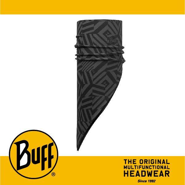 BUFF 西班牙魔術頭巾 POLAR保暖系列 保暖斜三角巾 ^~灰黑迷宮^~ BF1135