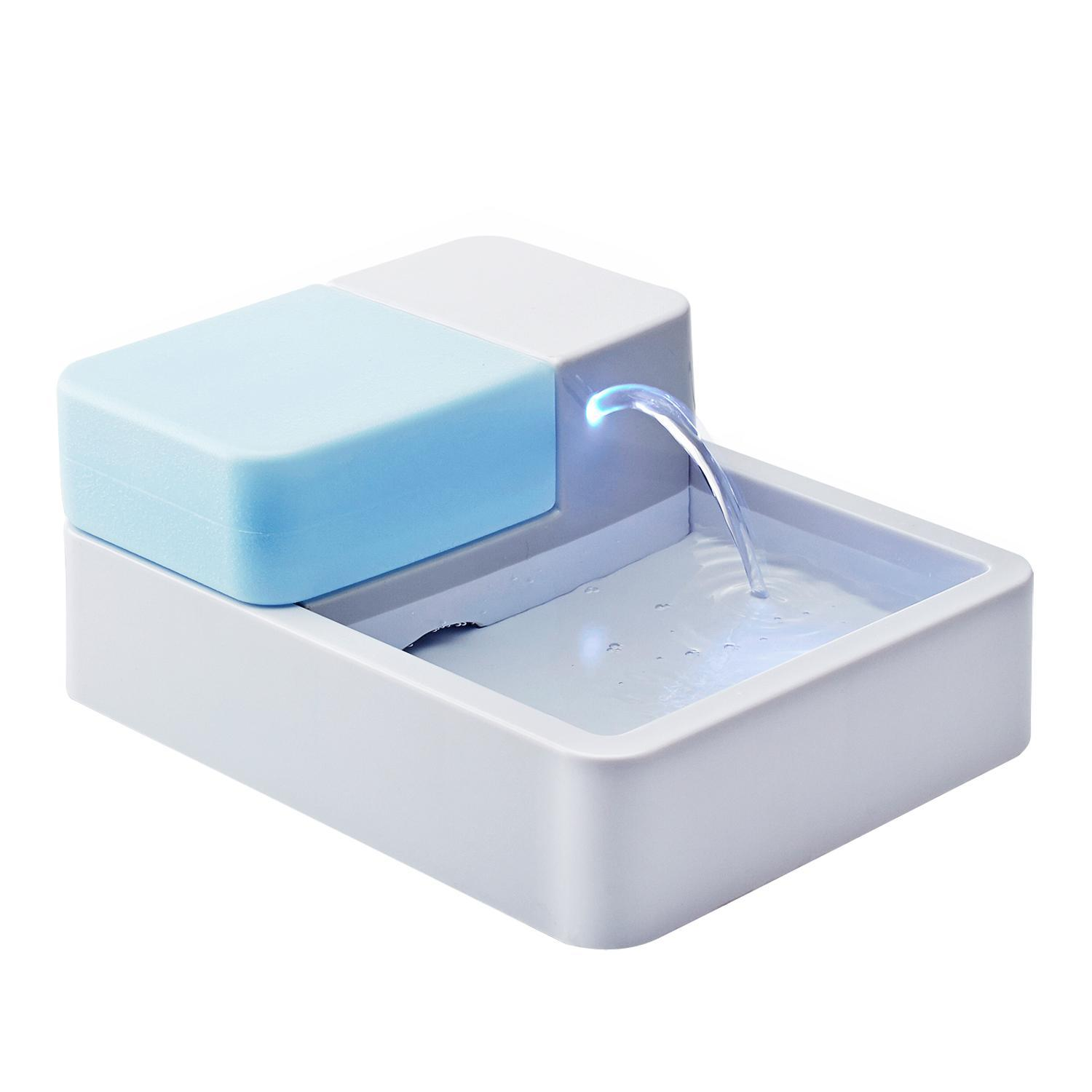 Automatic Electric 1.8L Pet Water Fountain Dog Cat Drinking Bowl With LED Light US Plug 3