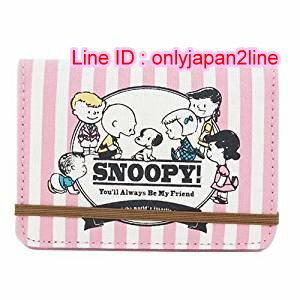 【真愛日本】16111200001帆布卡片包-65週年粉  史努比 SNOOPY  名片套 卡片套