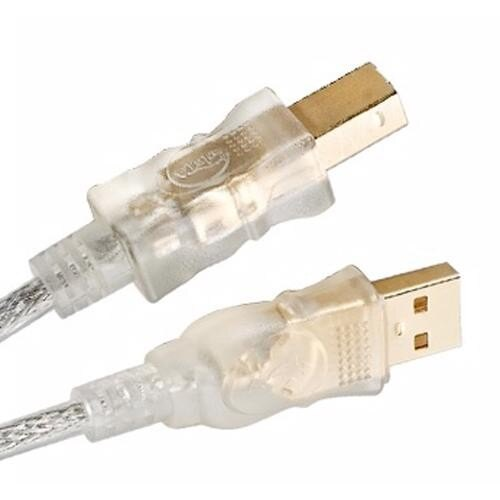 USB2.0 A公-B公透明雙隔離強化印表機傳輸線 3M