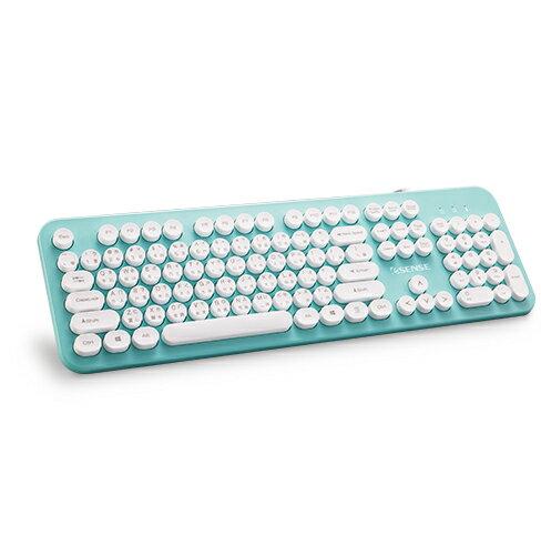 【618購物節 最低五折起】Esense 3700復古圓形標準鍵盤-綠