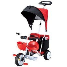 【淘氣寶寶】日本 IDES 三輪車 Cargo Plus 超大置物箱三輪車 (紅)