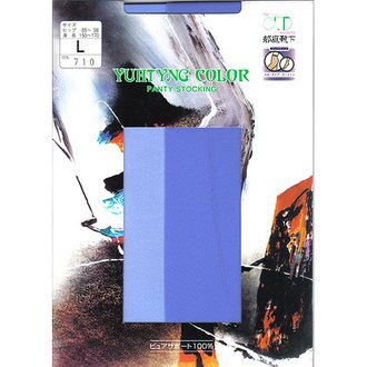 [漫朵拉情趣用品]【郁庭靴下】彩色系列 健康全彈性100%絲襪-天藍 DM-91657