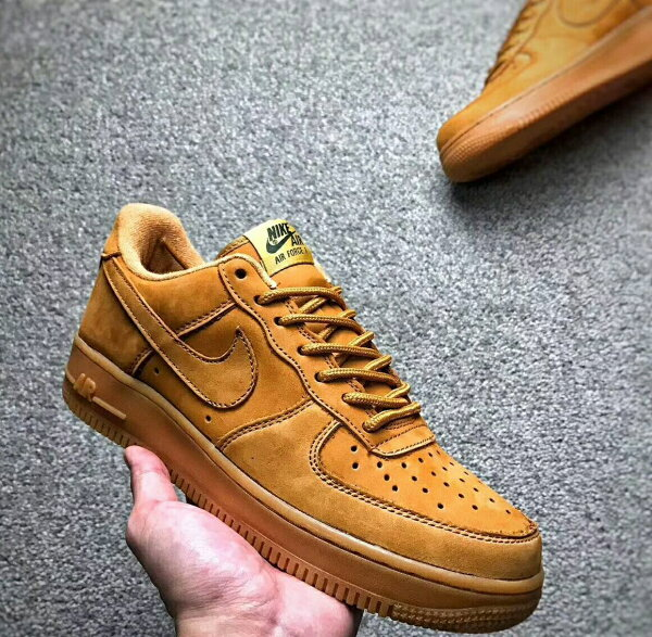 UStore:NikeAirForce1'Whites'Low麂皮小麥色情侶款