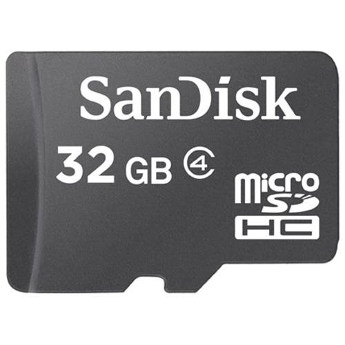 SanDisk 32GB microSDHC Class 4 32G microSD High Capacity micro SDHC C4 TF Flash Memory Card SDSDQ-032G Retail + SD Adapter