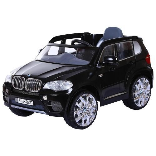 【淘氣寶寶】原廠授權 寶馬 BMW X5 雙馬達可開門 兒童電動車(黑色)【贈 動物家族拉拉樂積木】