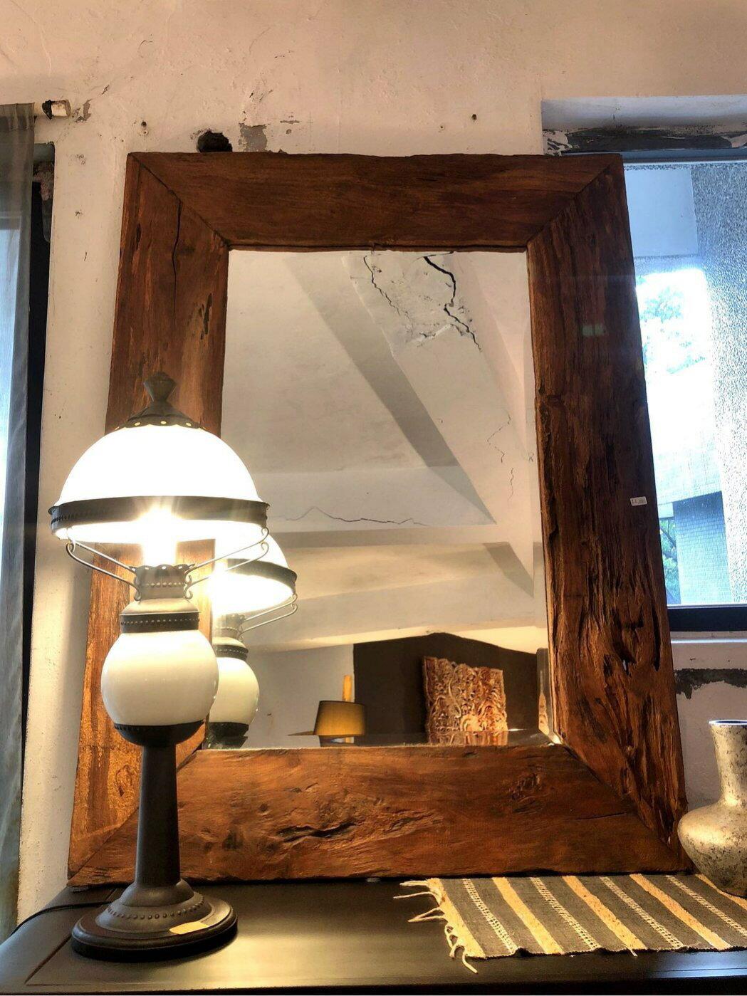 硬木方鏡掛鏡 (L112 W83.2 H3 cm)