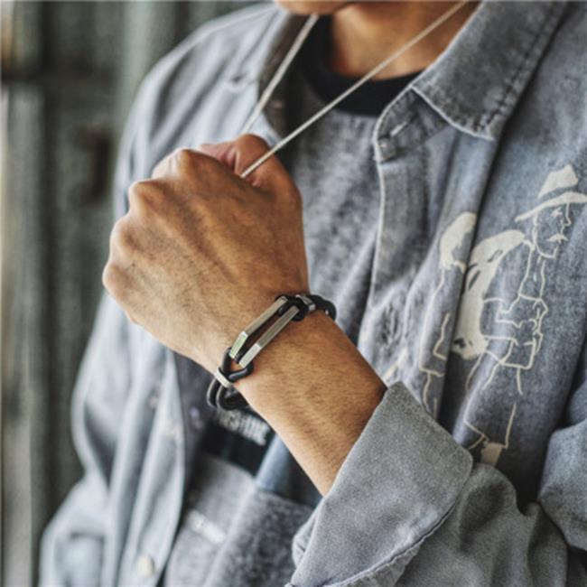 50%OFF SHOP【H021526BL】男士手鏈韓版個性鈦鋼復古多層真皮繩手鐲情人節禮物