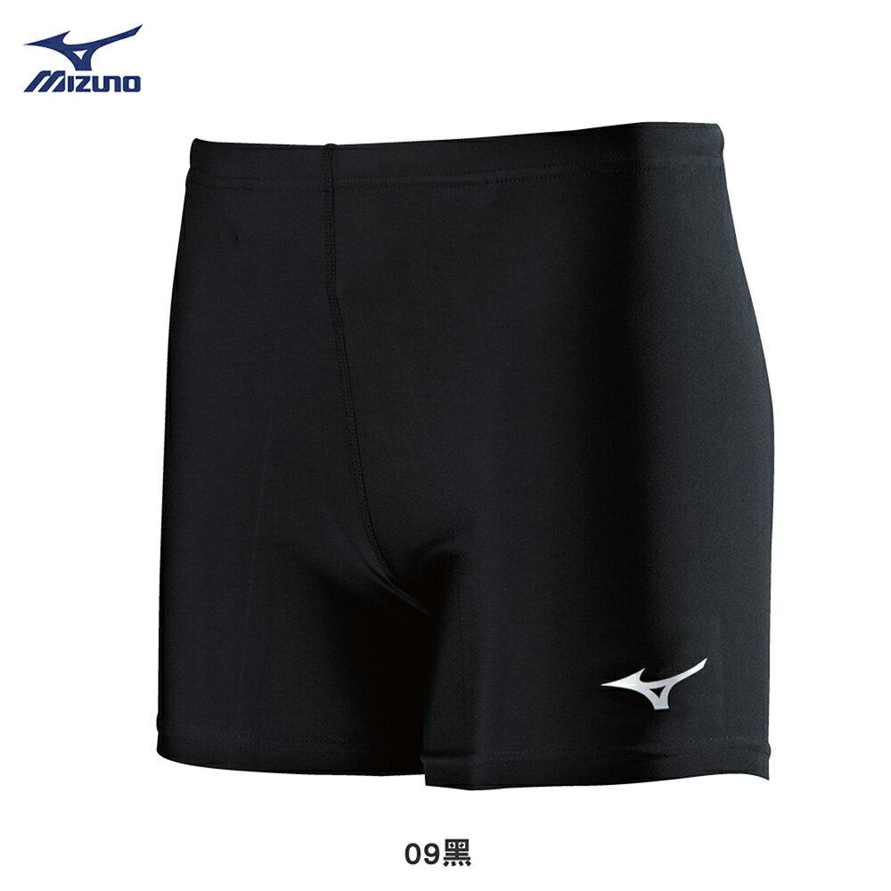 男款短型緊身褲 U2TB8G1109(黑)【美津濃MIZUNO】