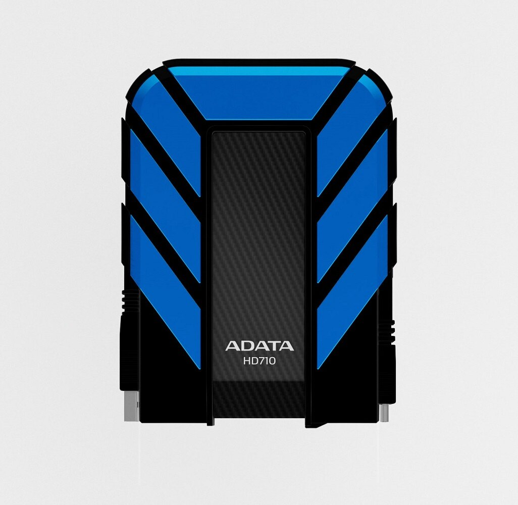 ADATA DashDrive HD710 Waterproof/Dustproof/Shock-Resistant USB 3.0 External HDD 1TB Blue (AHD710-1TU3-CBL) 0