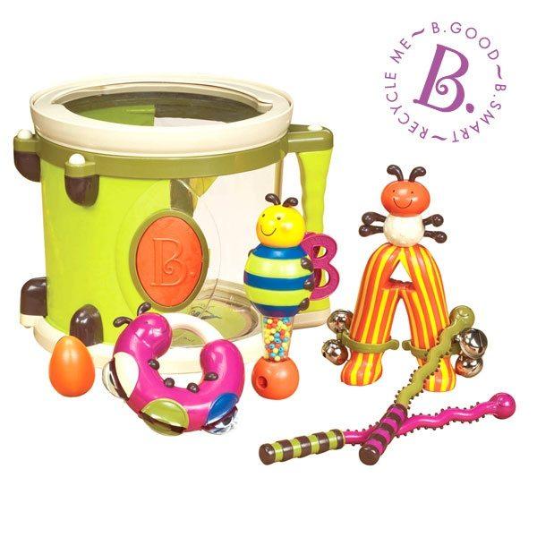 美國B.Toys-砰砰砰打擊樂團(6種樂器)【米菲寶貝】