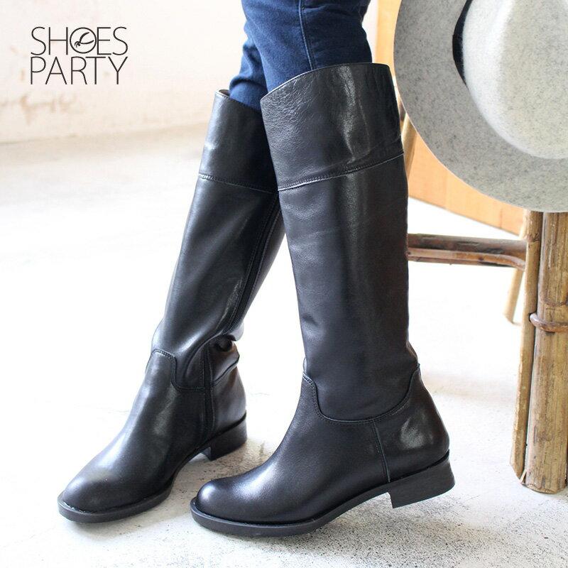 【B2-17340L】修飾小腿肚真皮率性乘馬靴_Shoes Party 2