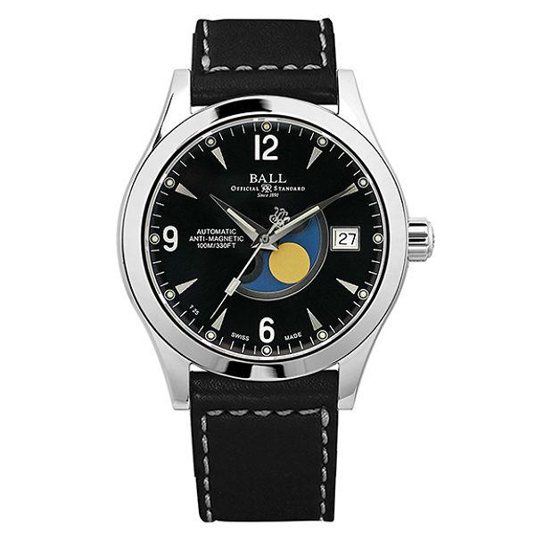 BALL 波爾錶NM2082C-LJ-BK Engineer II經典月象盈虧機械腕錶/黑面40mm