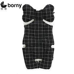韓國【Borny】全身包覆墊(推車、汽座、搖椅適用)(黑時尚格)