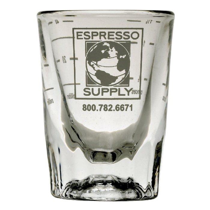 ~可 、  ~Espresso Supply 高 厚重玻璃量杯.義式咖啡機盎司杯.濃縮杯