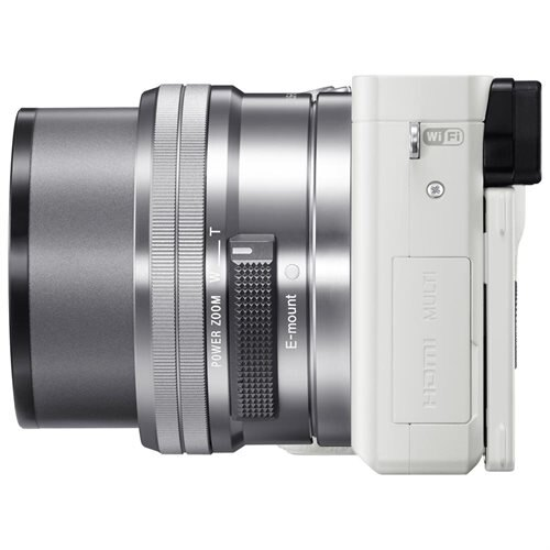 """Sony alpha a6000 24.3 Megapixel Mirrorless Camera with Lens - 16 mm - 50 mm - Silver - 3"""" LCD - 16:9 - 3.1x Optical Zoom - 4x - Optical (IS) - 6000 x 4000 Image - 1920 x 1080 Video - HDMI - HD Movie Mode - Wireless LAN 3"""