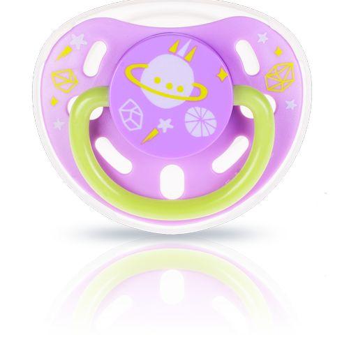 ★衛立兒生活館★kidsme 夜光安撫奶嘴-紫綠6個月以上使用