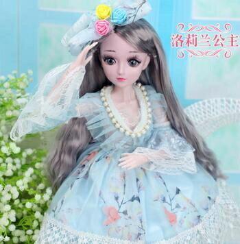芭比娃娃 大號60厘米怡甜芭比公主單個女孩玩具超大仿真洋娃娃套裝大禮盒