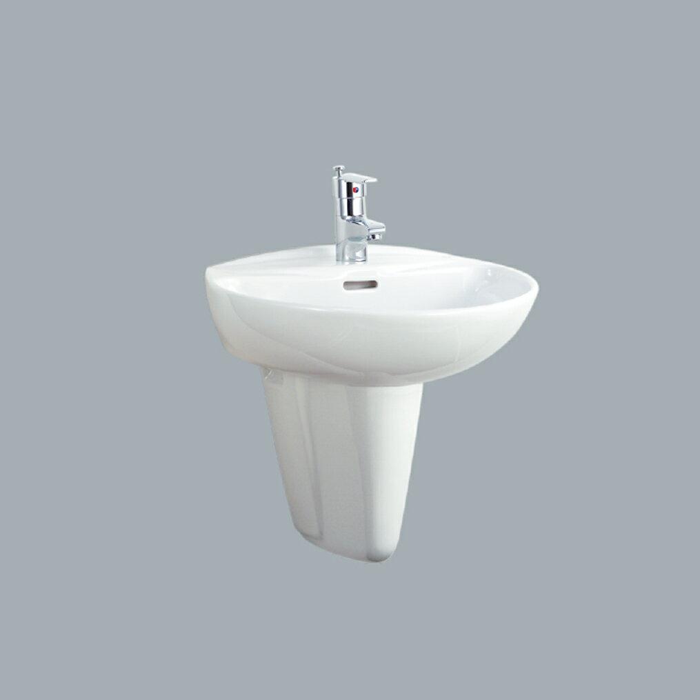 HCG單孔洗臉盆短柱/不含水龍頭 /L997S+F367