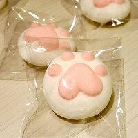 分享幸福的婚禮小物推薦喜糖_餅乾_伴手禮_糕點推薦貓掌棉花糖 (直徑約4CM) (50個/份)