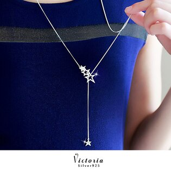 Victoria:S925銀簡約星星長項鍊-維多利亞161163