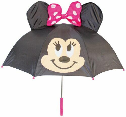 【真愛日本】16080400025立體造型雨傘47cm-MN大臉黑  迪士尼 米老鼠米奇 米妮 雨晴傘 造型傘