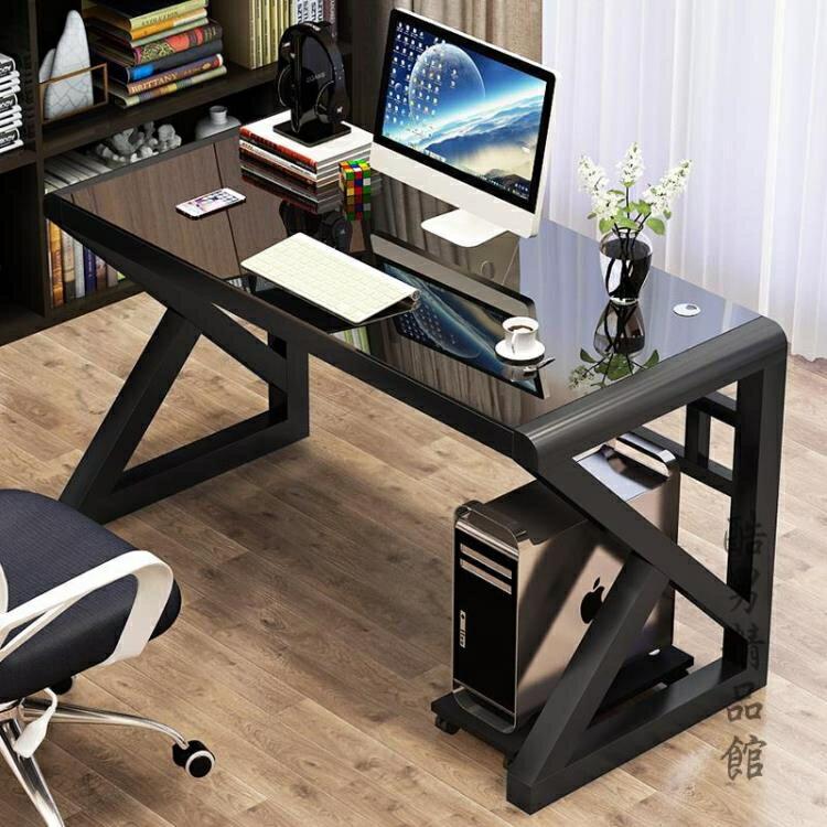 【快速出貨】電腦台式桌家用 簡約現代經濟型書桌 簡易鋼化玻璃電腦桌學習桌子 新年春節  送禮