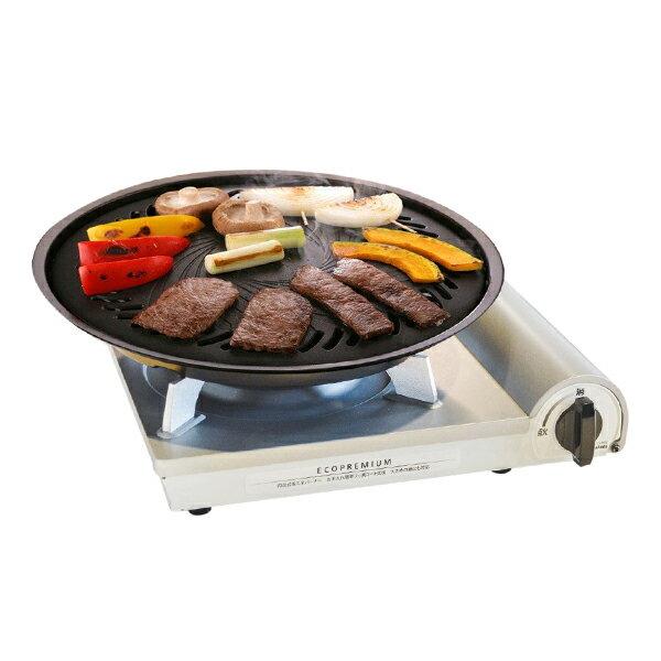 Iwatani 日本岩谷內焰卡式爐 2.9Kw 頂級 / 節能 / 高效 / 卡式爐 / 瓦斯爐  CB-CO-PRW+圓型烤肉盤 大 CB-P-Y3 0