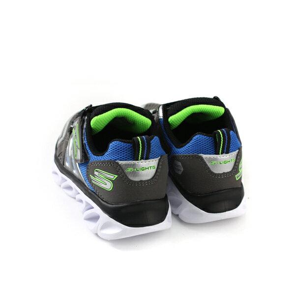 SKECHERS  LIGHTS 運動鞋 電燈鞋 童鞋 灰色 90512LSLBL no982 1