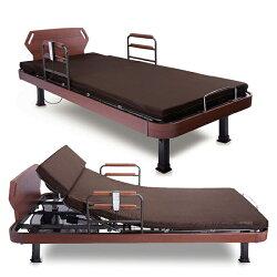 日本ATEX居家電動床(雙馬達) AX-BK906EW/電動式靠背收納折疊床/單人折疊床/折疊床椅