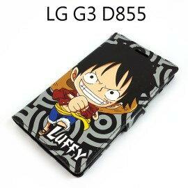 海賊王側翻支架皮套 [R03] LG G3 D855 航海王 魯夫【台灣正版授權】