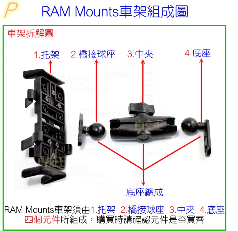 【尋寶趣】外牙10mm反  /  內牙08mm正 加高螺絲 轉換螺絲 後照鏡 轉接螺絲 延伸座 RAM-LM10Y-08H 7