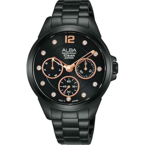 大高雄鐘錶城 ALBA 雅柏 VD75-X123SD(AP6641X1) 時尚百搭潮流女錶/  黑 36mm