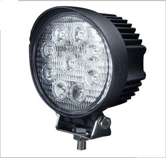 27W LED工作燈 27w 黃金光 27w黃光12V~24V LED燈 霧燈 日行燈 探照燈 怪手貨車27w