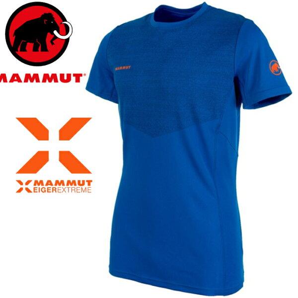 Mammut長毛象極限系列排汗衣登山運動圓領短袖T恤MoenchLtT-Shirt男款1017-000505072冰藍