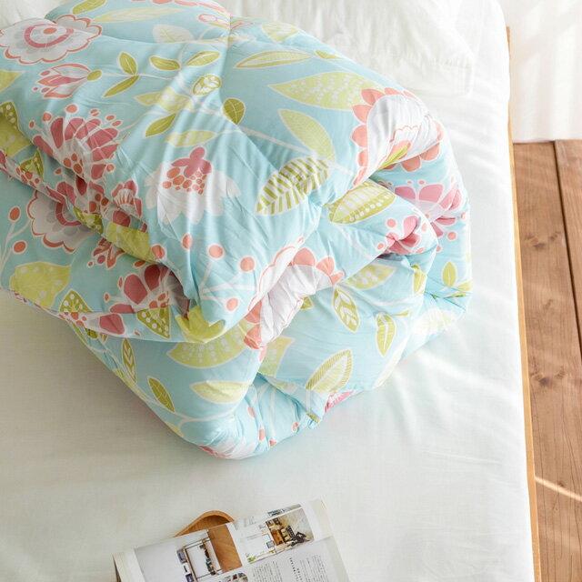 棉被 【盛開】科技羽絲絨被(雙人款2.6KG)-可水洗棉被 絲薇諾