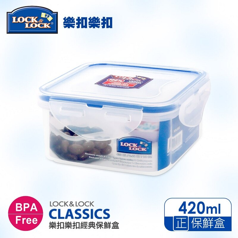 【樂扣樂扣】CLASSICS系列保鮮盒/正方形420ML