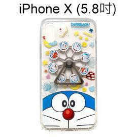 哆啦A夢摩天輪指環支架空壓殼[大臉]iPhoneX(5.8吋)小叮噹【正版授權】