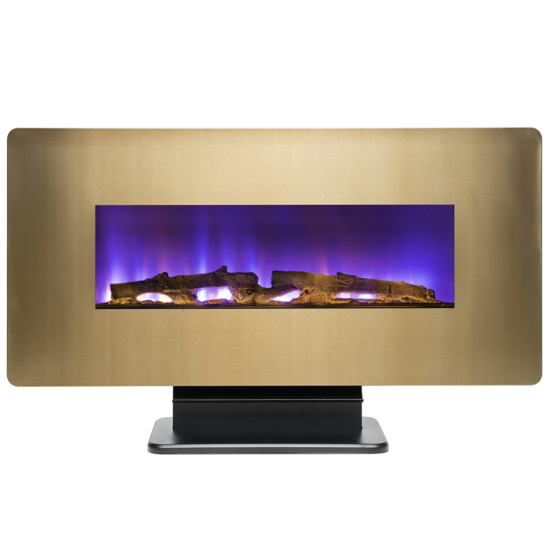 "AKDY 36"" Freestanding Wall Mount Electric Fireplace 3-in-1 Fuel Bed w/ Remote Control 6"