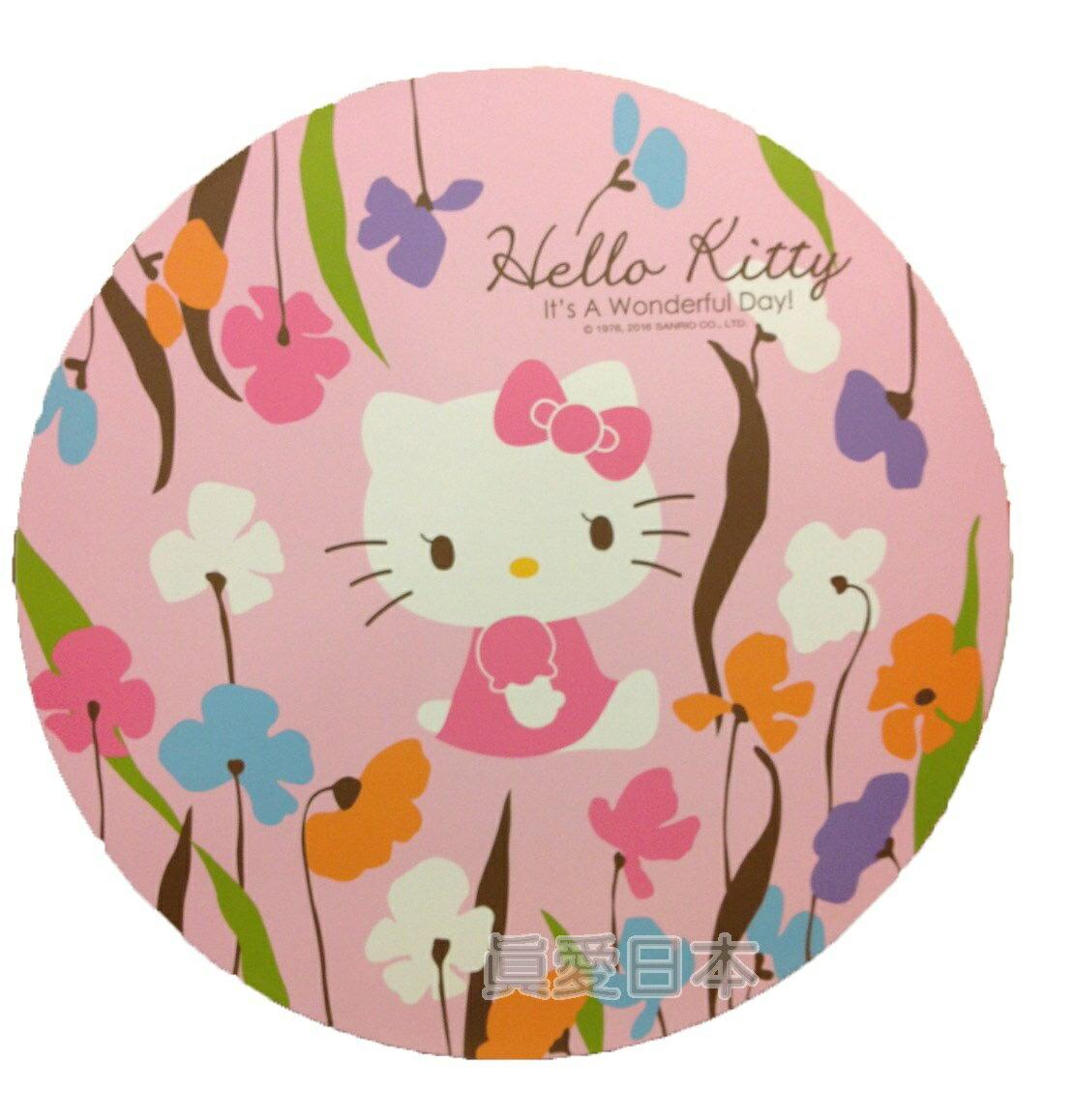 【真愛日本】16042100033環保木製隔熱墊L-KT花花  三麗鷗 Hello Kitty 凱蒂貓 鍋墊 杯墊 墊子 防滑 正品